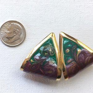 ⭐️ 3 for $15 ⭐️ VTG 3D Earrings Resin Metal Posts